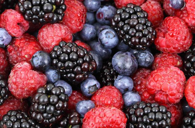 Wspaniałe leśne owoce
